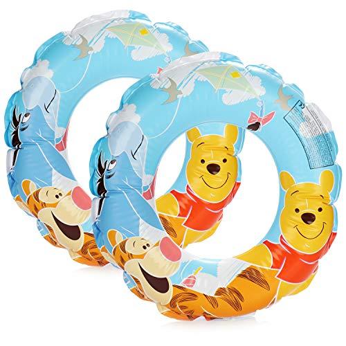 com-four® 2X Schwimmreifen für Badespaß - Schwimmring mit Motiven der Disney-Figuren Winnie Puuh, Tigger und I-Aah (02 Stück - Ø 45cm Winnie Puuh)