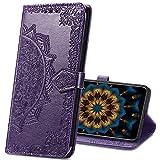 MRSTER Funda Compatible con Samsung Galaxy Grand Prime G530, PU Cuero Flip Folio Carcasa, Cierre Magnético, Función de Soporte, Billetera PU Cuero Funda para Samsung G530. SD Mandala Purple