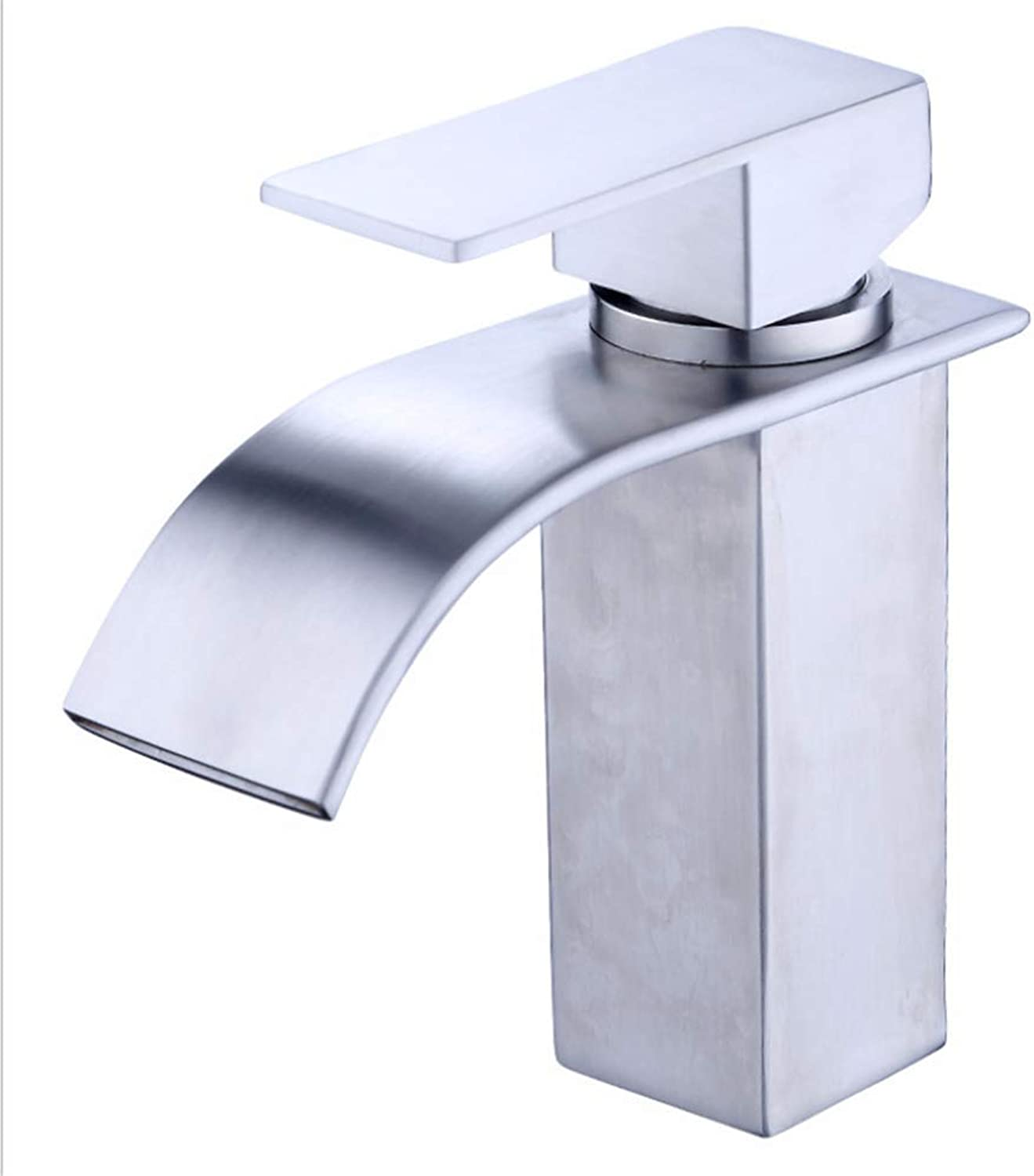 Basin Mixer Tap Bath Fixtures Wash Basinsinkkitchen Ordinary Faucet 304 Stainless Steel Basin Faucet Hot and Cold Water Mixing Valve Drawing Single Hole