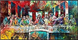 Famous Painter Leonardo Da Vinci's Last Supper Graffiti Poster Family Classical Wall Art Mural No Frame (80x160cm)