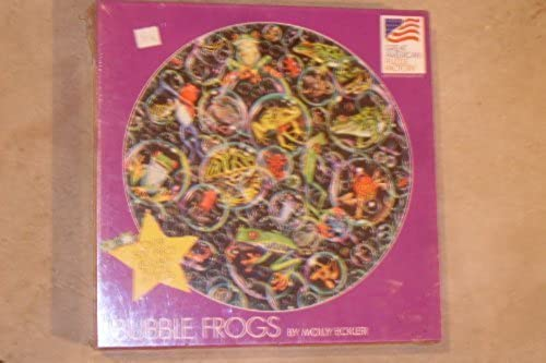 Bubble Frogs By Molly Eckler 500 Piece Round Jigsaw Puzzle by Great American Puzzle Factory