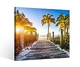 Leinwandbild 1Tlg Steg am Strand Key West Florida Leinwand