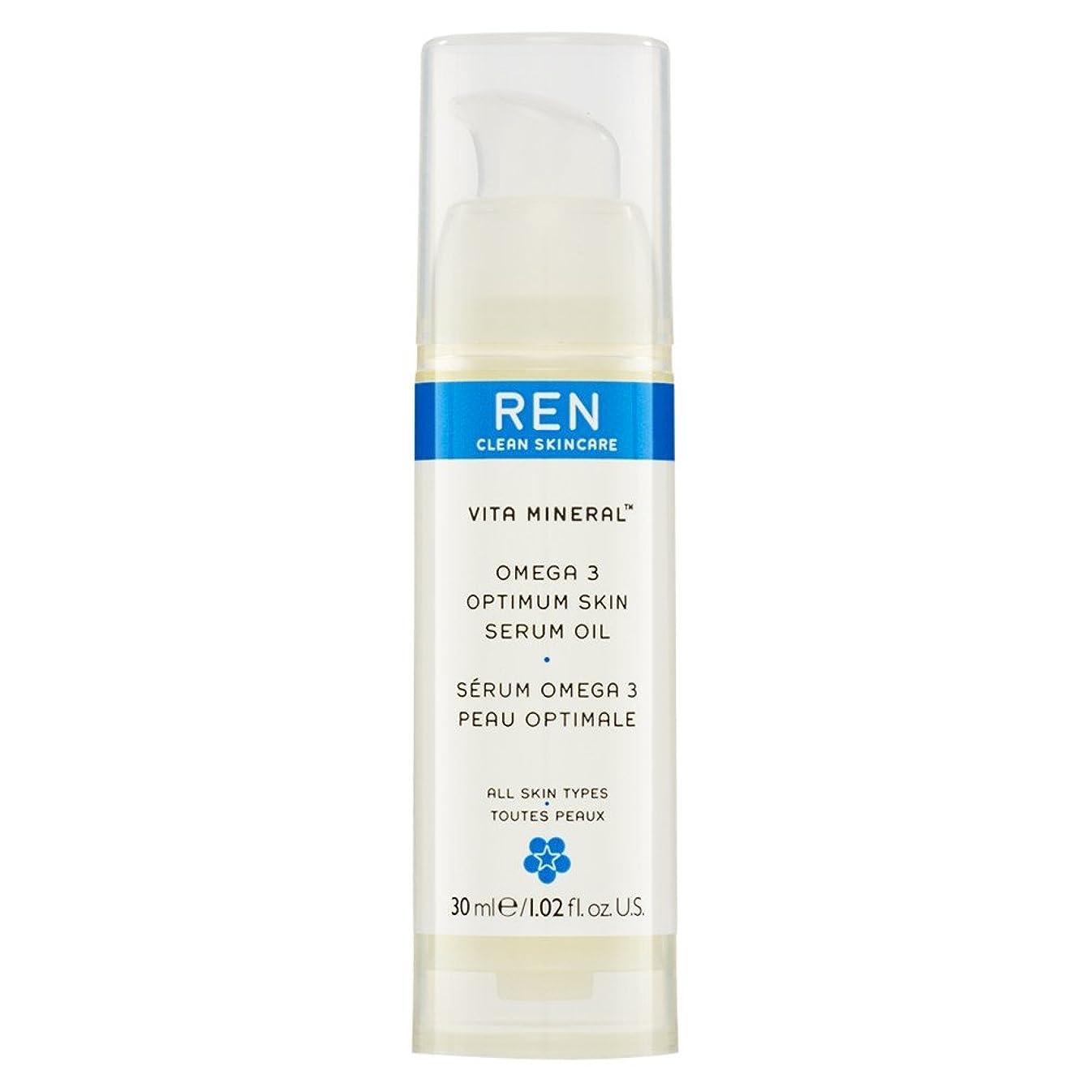 スカーフジャンク弾性Renヴィータミネラル?オメガ3の最適な肌の血清オイル30ミリリットル (REN) (x6) - REN Vita Mineral? Omega 3 Optimum Skin Serum Oil 30ml (Pack of 6) [並行輸入品]
