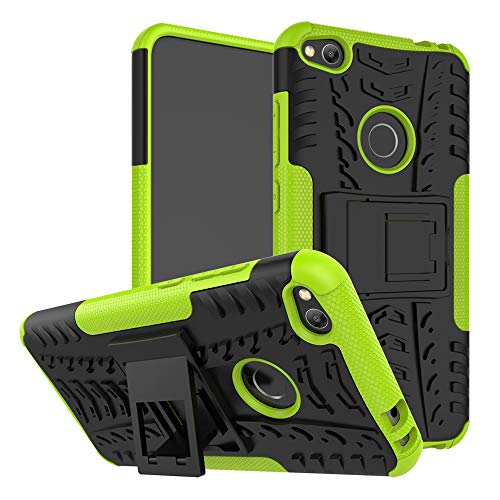 LFDZ Huawei P8 Lite 2017 Custodia, Resistente alle Cadute Armatura Robusta Custodia Shockproof Protective Case Cover per Huawei P8 Lite 2017 / Honor 8 Lite Smartphone,Verde