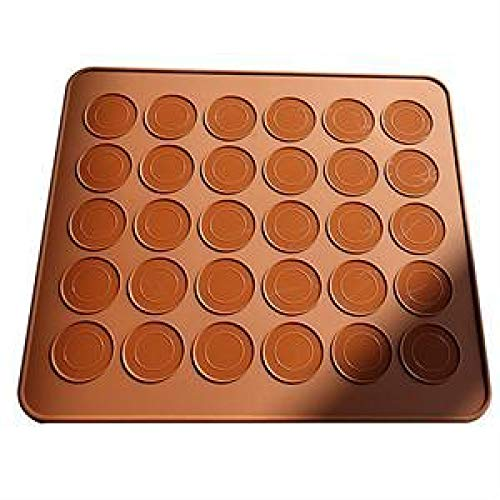 ZHEBEI Backform für Macarons, Backform, Backform, 30 Mulden, Backform