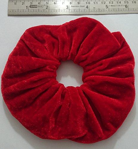 Aadya-élastiques à cheveux velours XL (15 cm) existe en couleurs 26 rouge
