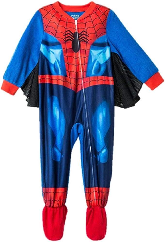 Spidey Spiderman Spider Man Toddler Boys Footed Pajamas Blanket Sleeper with Wings