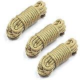 Cuerda De Algodón Suave-16 Pies 5 M Cuerda Larga Duradera Natural Multifunción (3 Piezas)