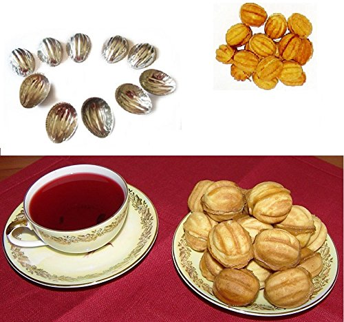 Sweet Russian Oreshki Pastry Cookie Nutlets 100 pcs Metal Mold Forms Орешки