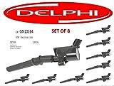 DELPHI GN10164 Ignition Coil for Ford 4.6L 5.4L V8 DG457 DG472 EXPLORER CROWN VICTORIA EXPEDITION F-150 F-250 MUSTANG LINCOLN EXPLORER DG508 3W7Z12029AA GN10164-111B set of 8