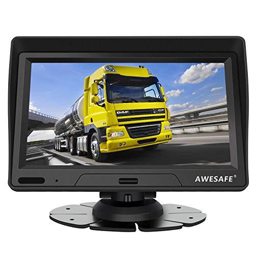 Navigatore Satellitare Auto Camion 2020 7 Pollici GPS Navigatore per Moto Autobus Taxi, Precaricato Mappa Europa, Avviso Traffico Vocale, Limite di Velocità, Aggiornamenti gratuiti delle mappe a vita