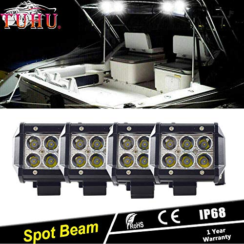 Tuhu-auto 4X LED Marine Spreader lichten plafond/Mast lampen voor boot 72W Spot LED Light Bar