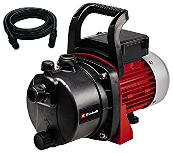 Einhell 4180283 Bomba de agua con mangera de aspiracion 7 m (650 W, 3800 l/h) rojo y negro, 650W