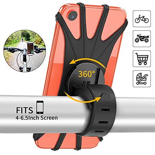 PEYOU Handyhalterung Fahrrad, Fahrrad Handyhalterung kompatibel für iPhone 11/Xr/8/7/6 Plus und Handy mit 4-6,5 Zoll, 360 °Verstellbarer Handyhalter für Fahrrad, Motorrad, Offroad-Mountainbike