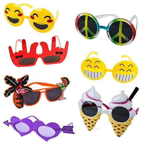 Tigerdoe Funny Sunglasses – 7 Pairs - Photo Booth Sunglasses - Party Sunglasses – Costume...