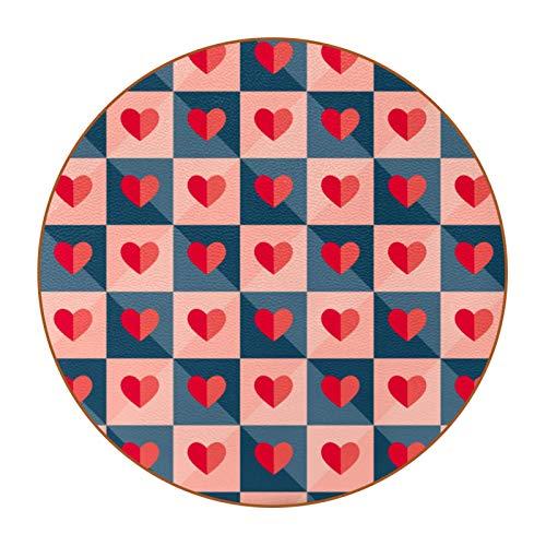 Bennigiry Juego de 6 posavasos de papel con diseño de corazones y corazones resistentes al calor para taza de café y té, juego de 6