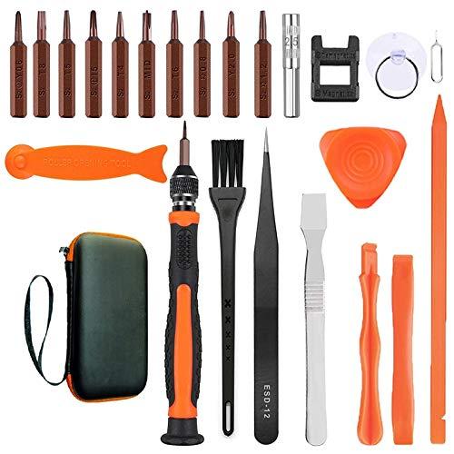 Fransande 24 kits de reparación de teléfonos móviles, juego de destornilladores de precisión con imán y kit de herramientas fijas para equipos de reparación electrónica