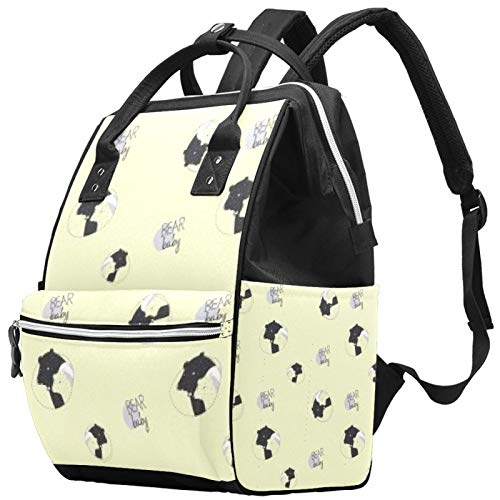 Baby Bear Snoring Large Capacity Nappy Backpack Baby Diaper Bag Rucksack Travel Bag for Mums Dads