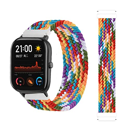 LIANYG Correa De Reloj Banda Trenzada 42 / 46mm Smart Watch Pulsera Smart Watch Correa 493 (Band Color : 11, Size : 20mm)