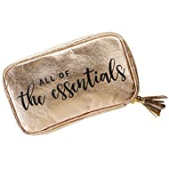 Stylish & Eco-Friendly Essential Oil Carrying Case - Washable Paper Aromatherapy Travel Organizer - 10 x Mesh Compartments for Standard Or Roller Bottles - Bonus Cotton Carry Bag -