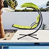 Finefind Hanging Chaise Lounge Chair Canopy Floating Chaise Lounger Swing Hammock Chair, for Patio, Garden, Deck and Poolside