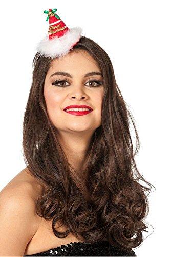 Mini chapeau Merry Christmas avec clip Cheveux Noël