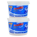 DampRid FG50T Moisture Absorber 4 lb. Hi-Capacity Bucket-for Fresher, Cleaner Air in Large Spaces-2 Pack, 4-Pound, white, 2 Count