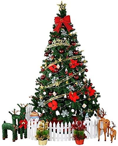 YSDKJ Árbol de Navidad Artificial Soporte de Metal Árbol de Navidad Construcción con bisagras Decoraciones navideñas Interiores 0918(Color:Red)