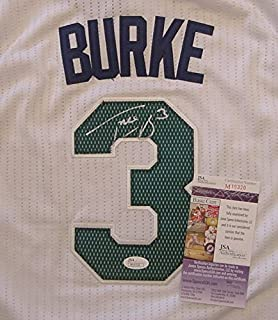 Trey Burke Utah Jazz Autographed White #3 Jersey Size L JSA COA