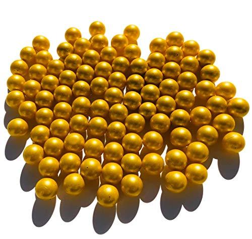 CRYSTAL KING Goldene Matt Gold Glasmurmeln Glaskugeln 16mm Durchmesser 500gr Dekokugeln Murmeln Murmel Gold farbene goldene Murmel Dekoglaskugel Dekoration Glaskügelchen