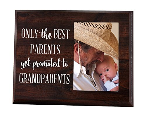 Best the parents get promoted to grandparents - Elegant Signs Only The Best Parents Get Promoted to Grandparents Gift for Grandparents Ultrasound Picture Frame Baby Announcement Gift