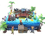 ZOOTOPIA 19 Piece Birthday Cake Topper Set Featuring Judy Hopps, Nick Wilde, Major Lionhart and...