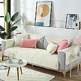 Suuki Möbelschutzfolie,überzug für Sofa,Möbelschützer,Sofa Protector Cover für Ledercouch,rutschfeste warme Sofabezug,Couchüberwurf für Wohnzimmer/Spielbereich,Möbelbezüge-Beige_70 * 150 cm