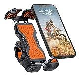 YOCKTECH Soporte deTeléfono Móvil para Bicicleta,Ajustable 360°, Soporte para Teléfono Móvil para Bicicleta para iPhone 12 Pro Max/11 Pro/XR/XS MAX, Galaxy S20/S10/Note 10 y Todos 4,7-6,8 Pulgadas