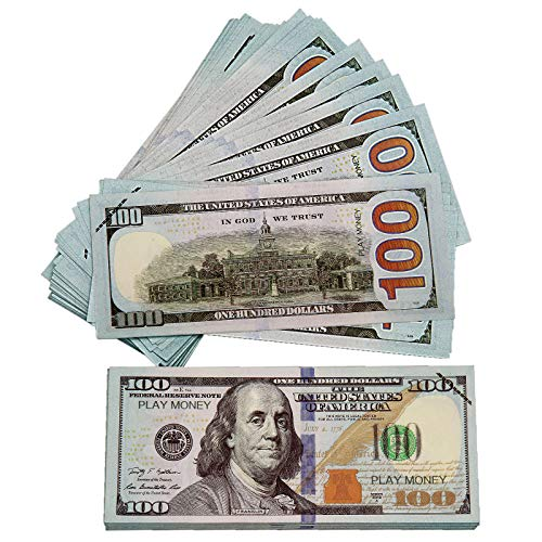 CKBYHYG Fake Money 100 Pieces Prop Money 100 Dollar Bills Realistic, Play Money for Kids Party, Decorations, Videos and Wedding