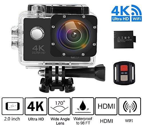 Action Camera 1080p Full HD ultra Wi-Fi 16MP Cam 5,1cm LCD 30m impermeabile subacquea 170° grandangolare sport fotocamera con USB ricaricabile 900mAh batteria di kit di montaggio AND21/2.4g Remote Control