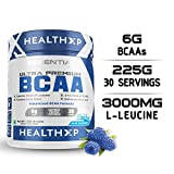 HealthXP BCAA 3:1:2-30 Servings/225 gms/6 gms BCAA Per Servings (Essential Series) (Blue Raspberry)