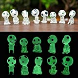 Kakeii Garden Statue with Glow in The Dark, Luminous Garden Ghost Miniature Figurines, Micro Landscape Gnomes Garden Decoration Outdoor Patio Lawn Yard Kit