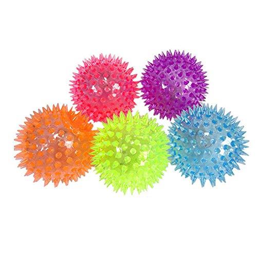 Gracorgzjs Balle de Massage Bounce, Portable LED Clignotant Bounce Spike Soulagement du Stress de la Balle pour Enfants GOG Toy Couleur aléatoire