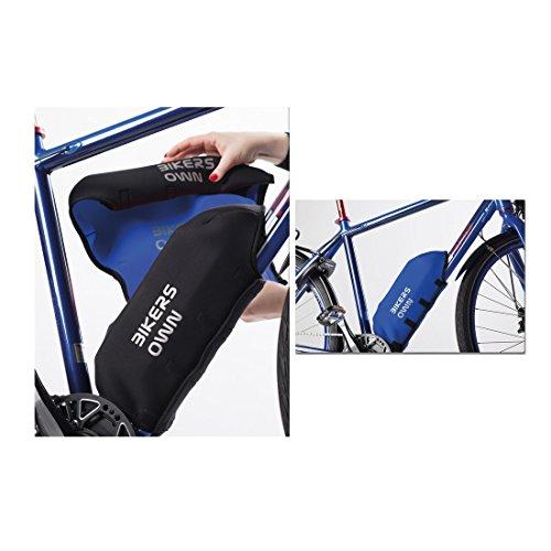 BikersOwn 2in1 Yamaha Rahmen Akkuschutz Plus Rahmenschutz, schwarz-Blau, Einheitsgröße