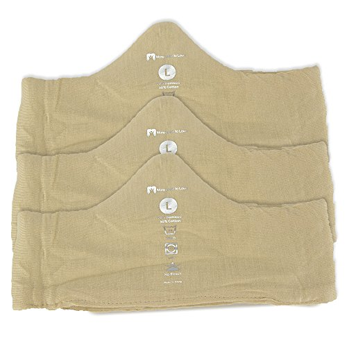 Keep Cool & Dry Bamboo Under-Bra Liners (Beige, L) - Natural, Thermoregulating, Wicking