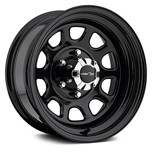 Vision 84 D Window 16x8 5x127/5x5' -12mm Gloss Black Wheel Rim