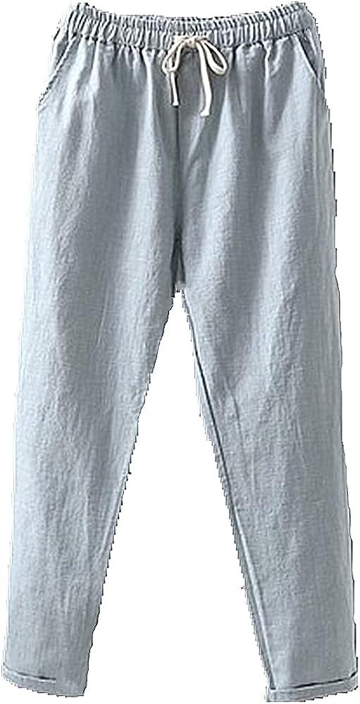 NP Summer Pants for Women Casual Capri Pants Waist Ankle-Length Harem Pants Women's