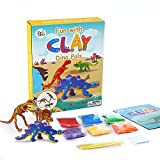 Jar Melo Clay Dinosaur Figures Kit,Creative 3D Dino Skeleton Modeling Clay Crafts Toys for Kids,3 Dinos