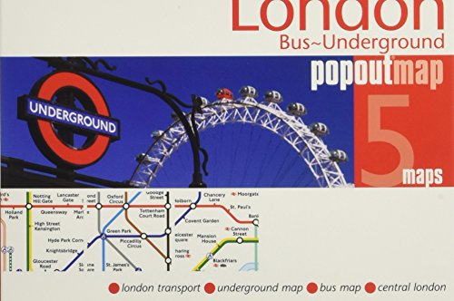 Popout Map London Bus-Underground (Popout Maps)