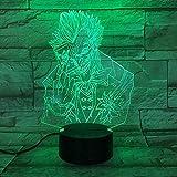 Luz nocturna 3D visual Ilusión óptica Luz de noche para Niños Super ugly lámpara de escritorio creativa para cumpleaños Con interfaz USB, cambio de color colorido
