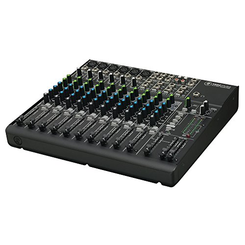 Mackie 1402-VLZ4 14-Channel Compact Mixer Bundle with Two XLR Cables, Two Instrument Cables, and Polishing Cloth