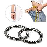 Magnet Armband, 2pcs Unisex Stilvolle Gewichtsverlust Black Stone Armband Gesundheits Magnetische...