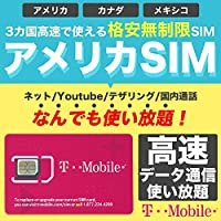アメリカSIM 5日間【使い放題】4G-LTE 高速データ通信/通話/SMS/テザリング 【アメリカ ハワイ 無制限】 プリペイド SIMカード T-Mobile