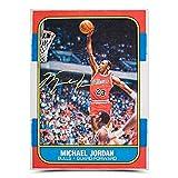 Michael Jordan Autographed Original Fleer Rookie Card Art - Upper Deck - Basketball Autographed Cards. rookie card picture